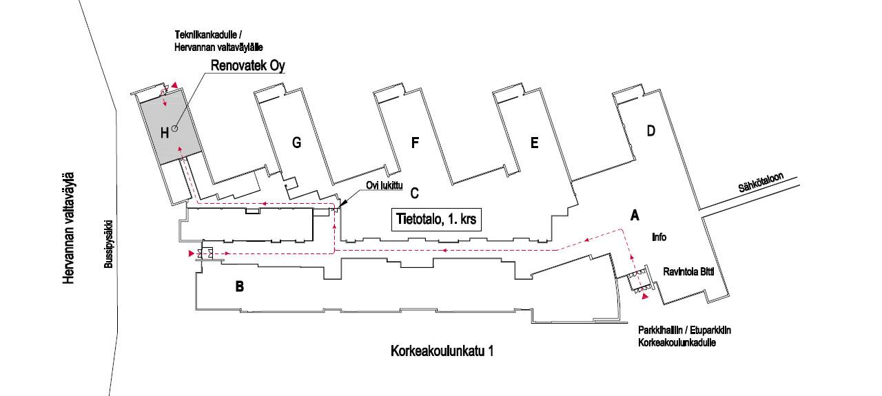 Tietotalon kartta